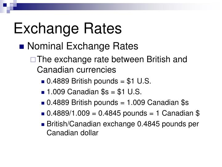 Exchange rates3
