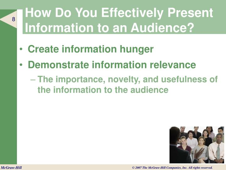 How Do You Effectively Present Information to an Audience?