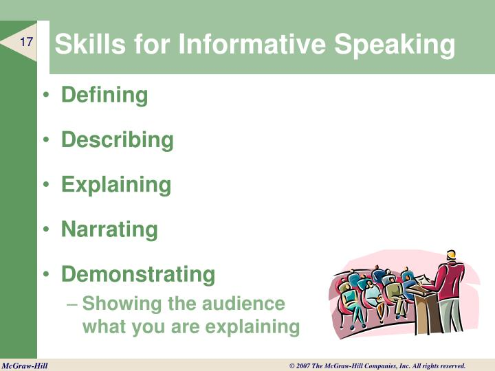 Skills for Informative Speaking