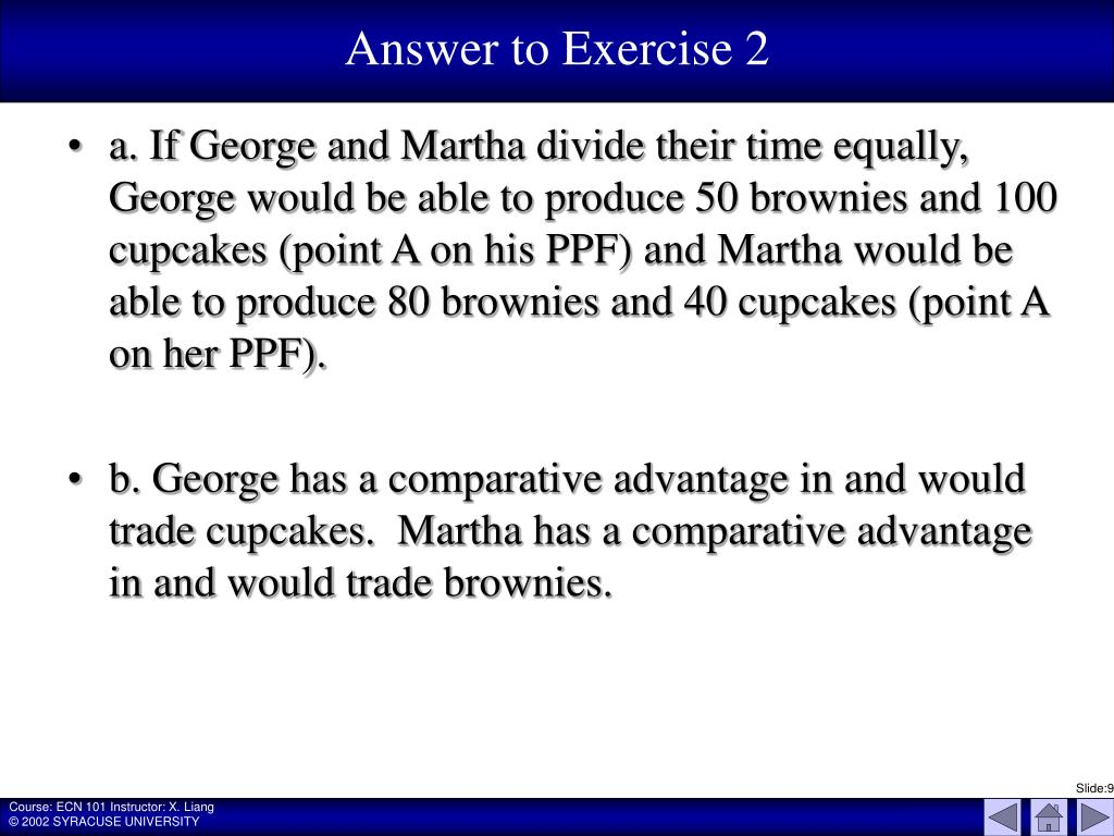 Answer to Exercise 2