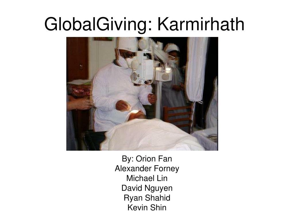 globalgiving karmirhath l.