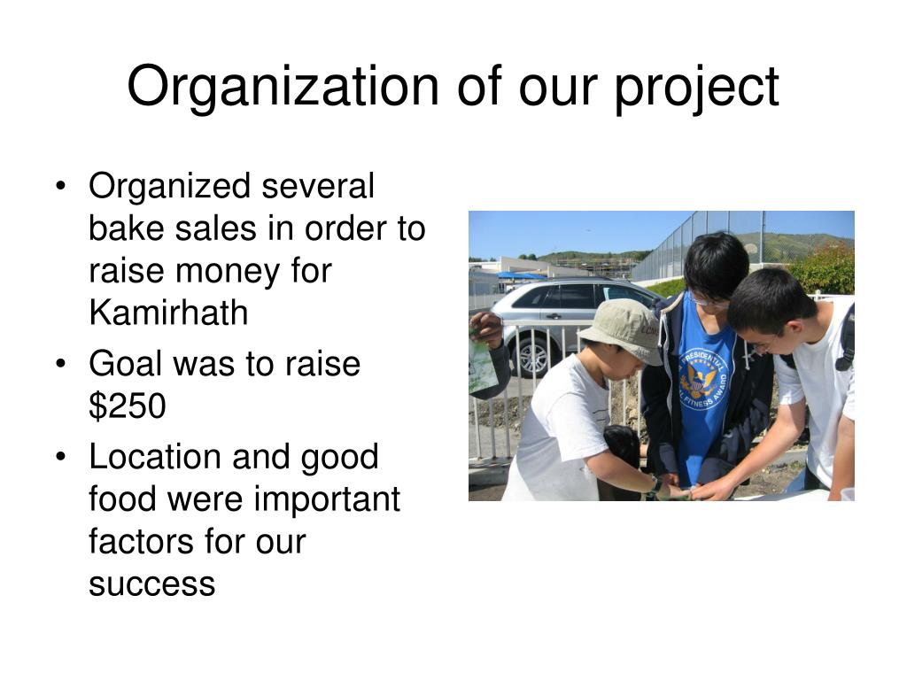 Organization of our project