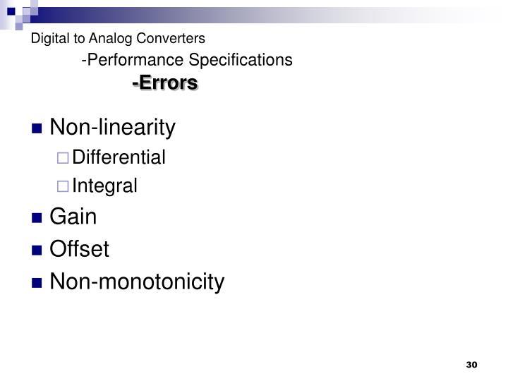 Digital to Analog Converters