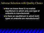 adverse selection with quality choice34