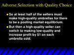 adverse selection with quality choice36