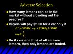 adverse selection14
