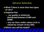 adverse selection16