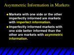 asymmetric information in markets4