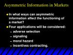 asymmetric information in markets5