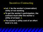 incentives contracting62