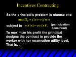 incentives contracting63