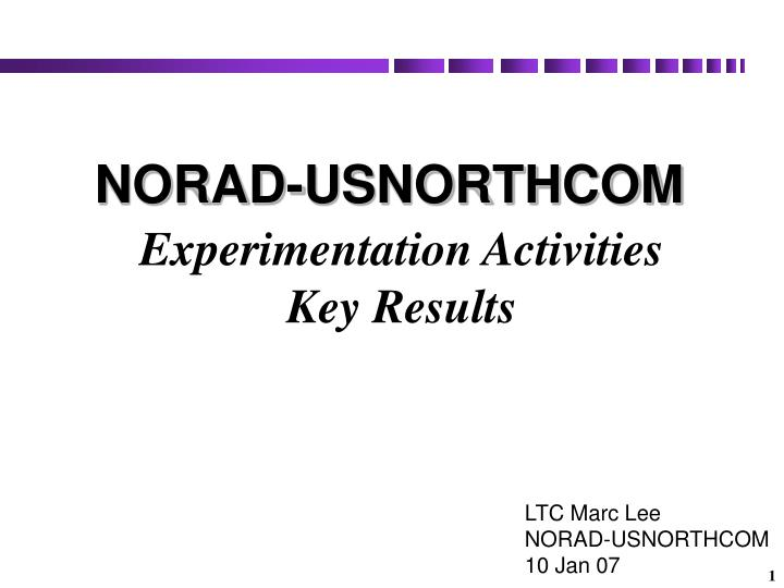 experimentation activities key results n.