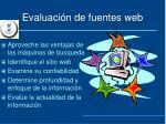 evaluaci n de fuentes web