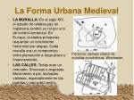 la forma urbana medieval
