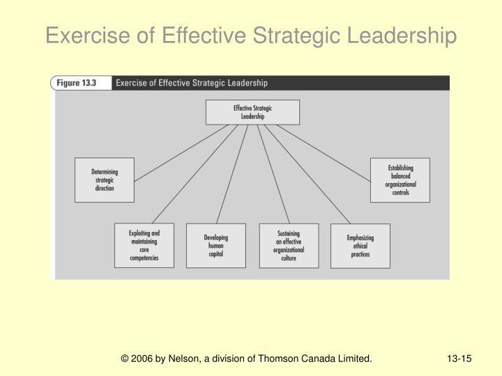 Exercise of Effective Strategic Leadership
