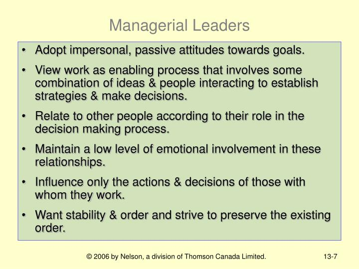 Managerial Leaders