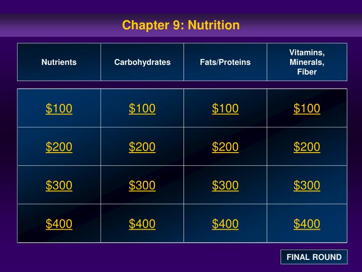 chapter 9 nutrition n.