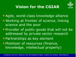 vision for the cgiar