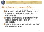 most losses are unavoidable