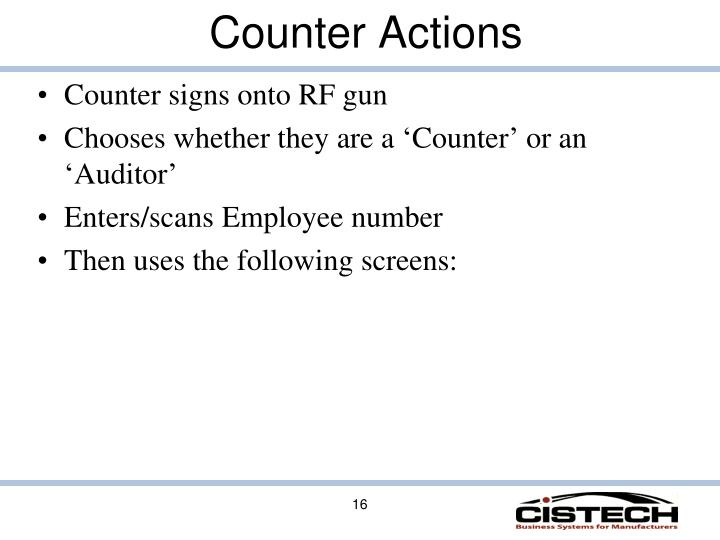 Counter Actions