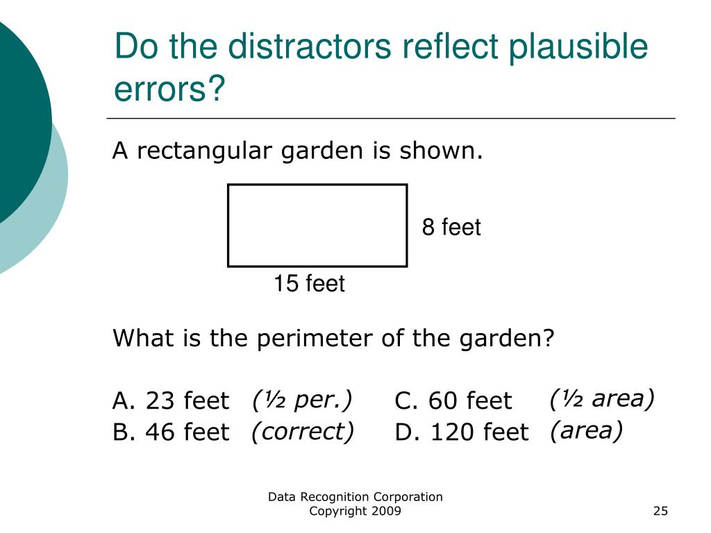 Do the distractors reflect plausible errors?