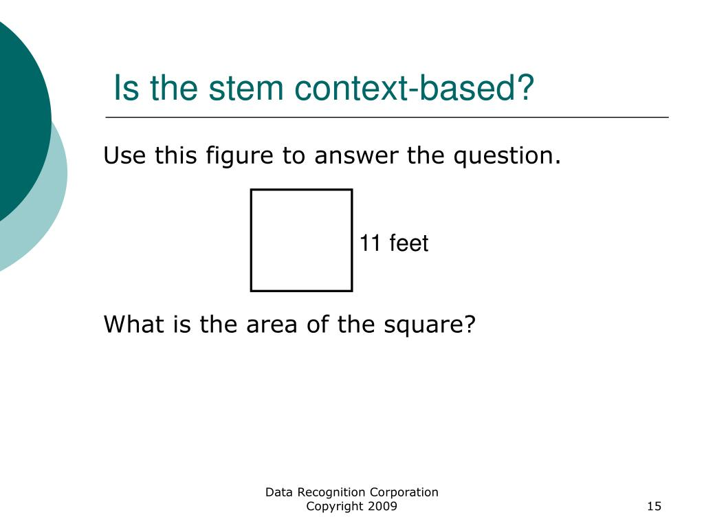Is the stem context-based?