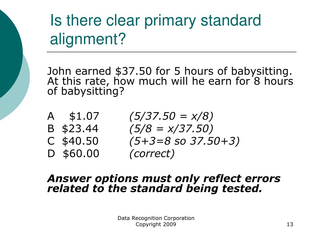 Is there clear primary standard alignment?
