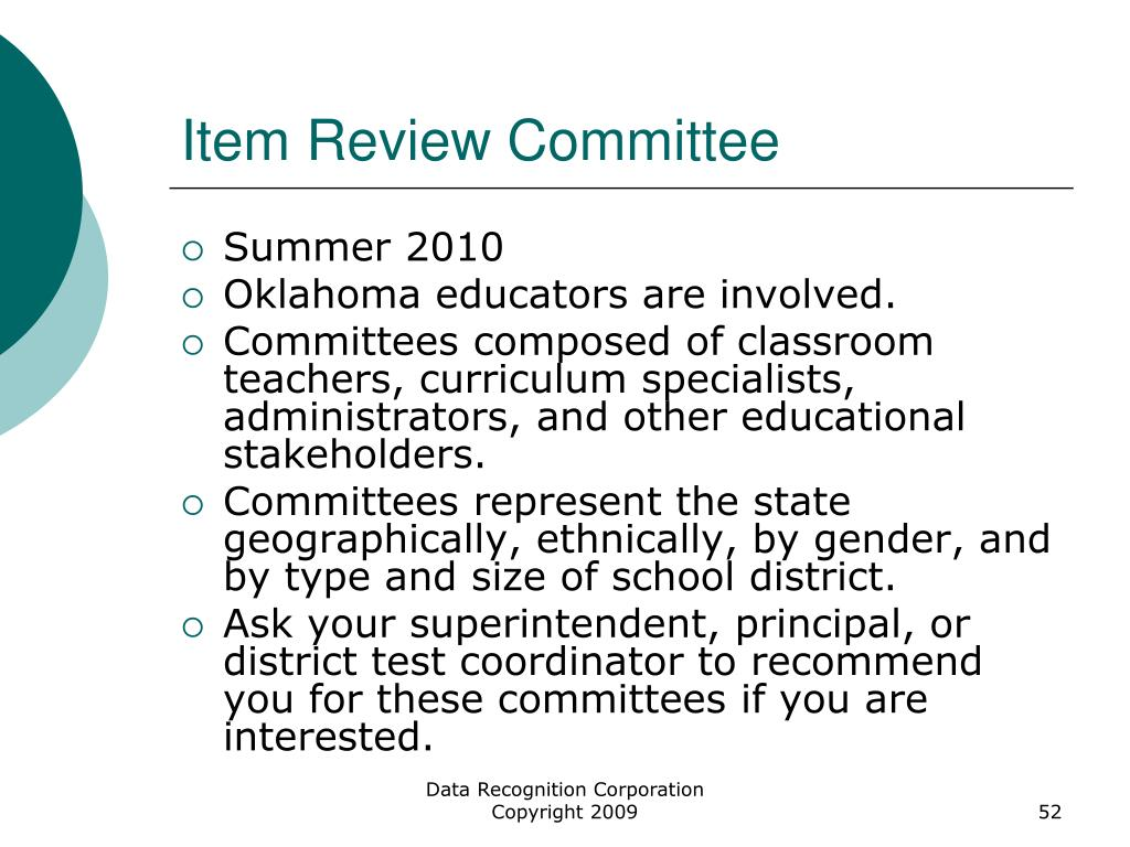 Item Review Committee