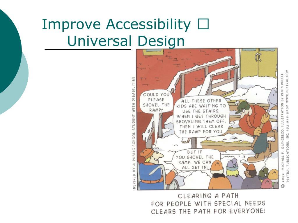 Improve Accessibility 