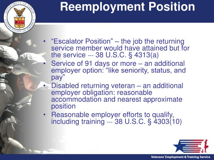 Reemployment Position