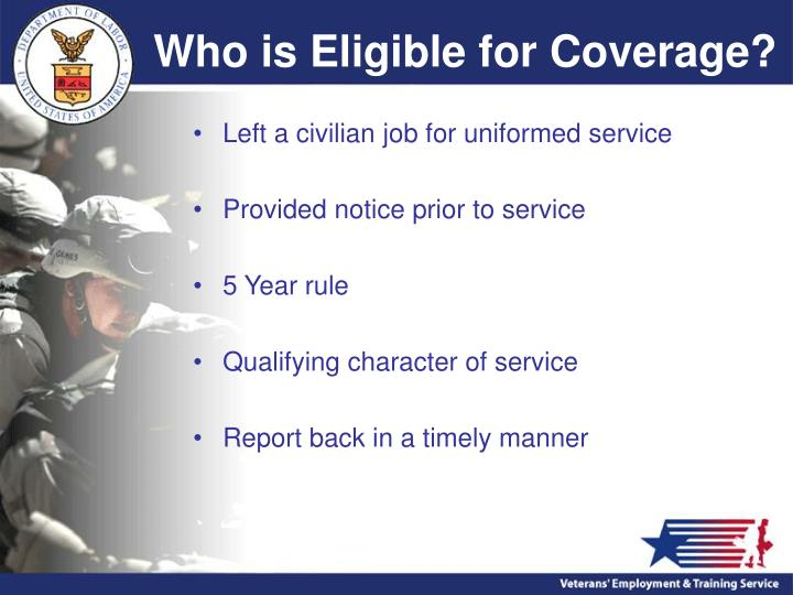 Who is Eligible for Coverage?