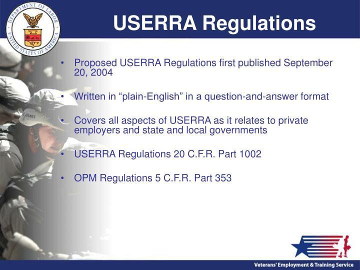 USERRA Regulations
