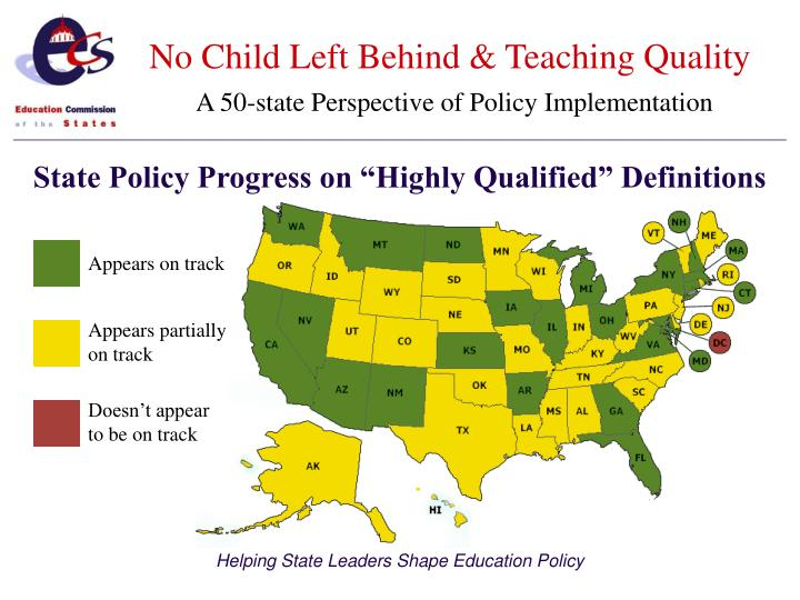 no child left behind analysis The no child left behind (nclb) act focuses on standardized testing in all american schools it is the bush administration's sweeping educational reform, aimed at improving the performance of the nation's public schools by introducing accountability.