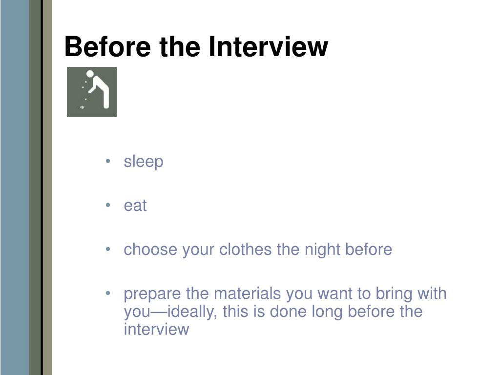 Before the Interview