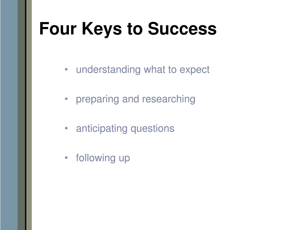 Four Keys to Success