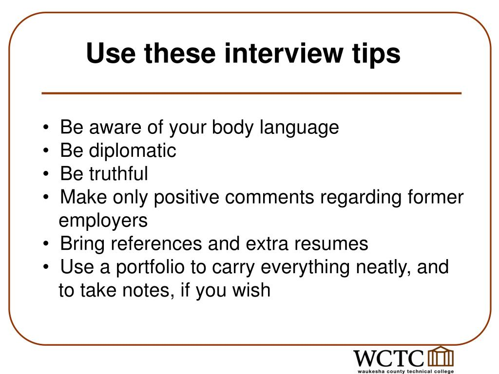 Use these interview tips
