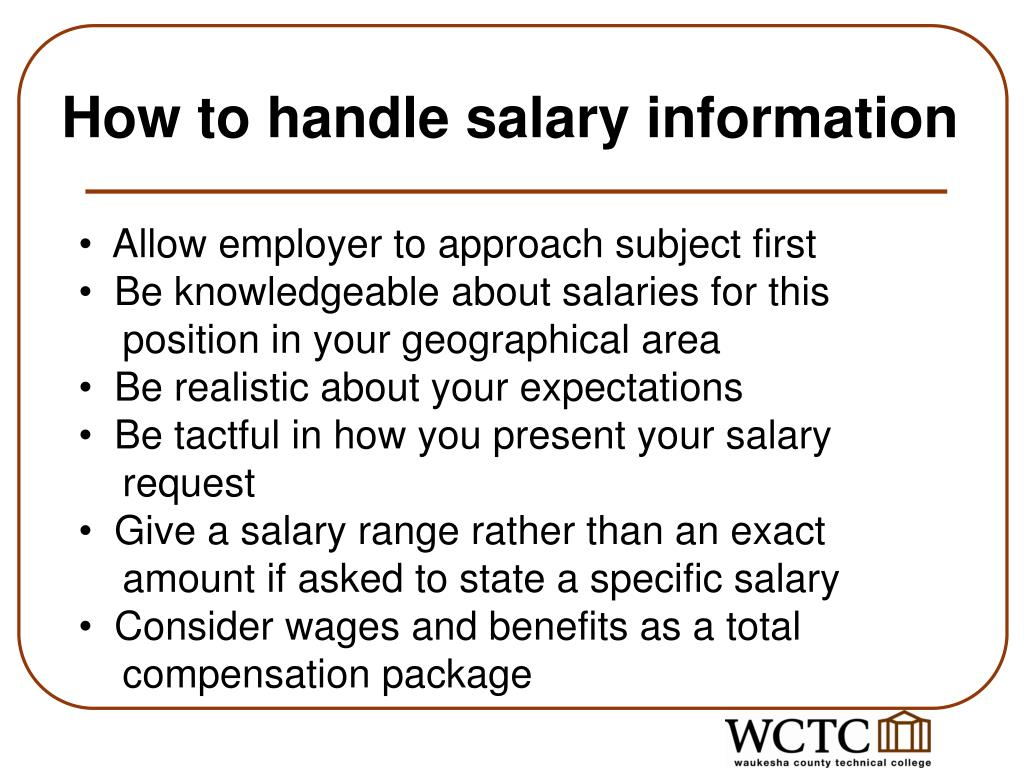 How to handle salary information