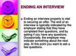ending an interview