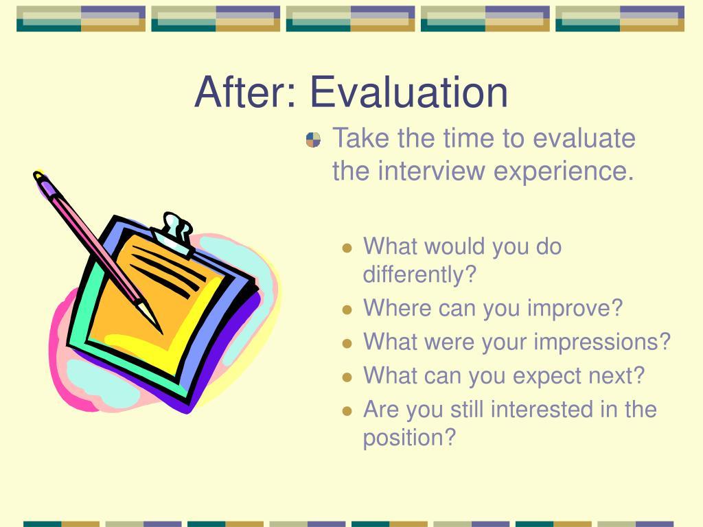 After: Evaluation