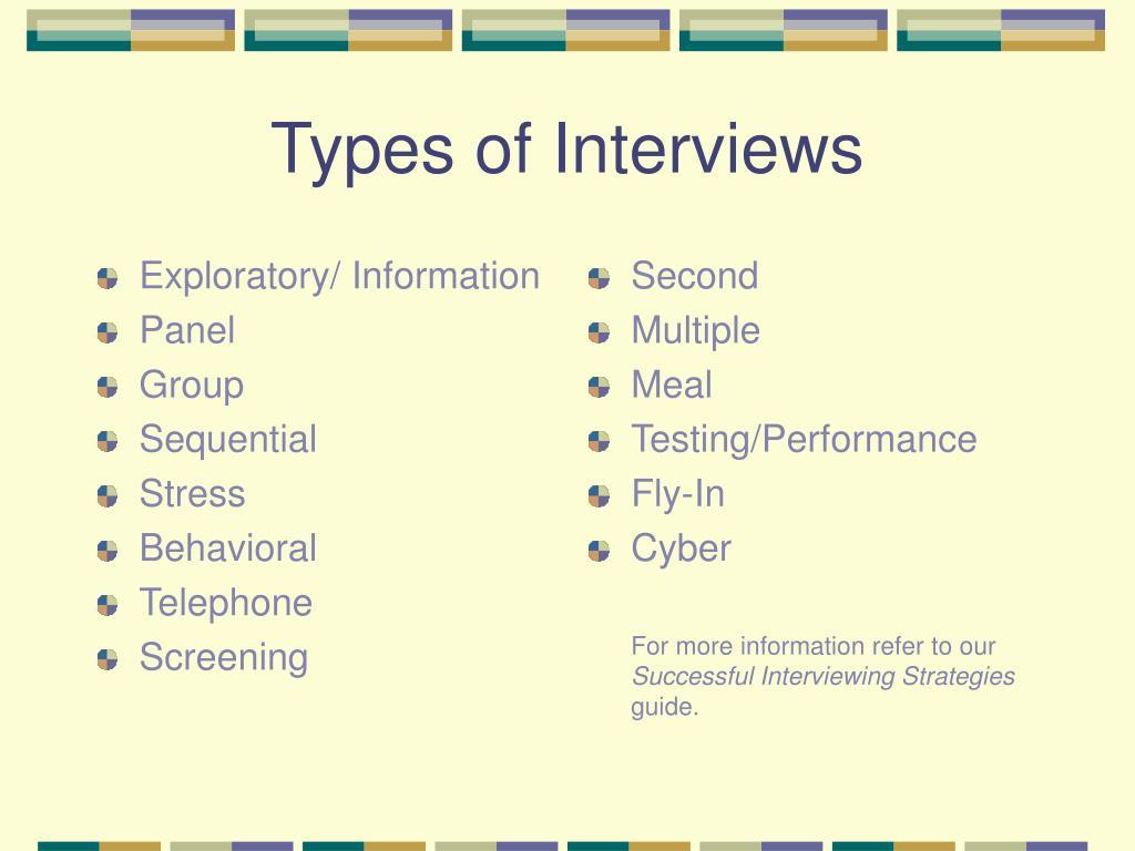 Exploratory/ Information