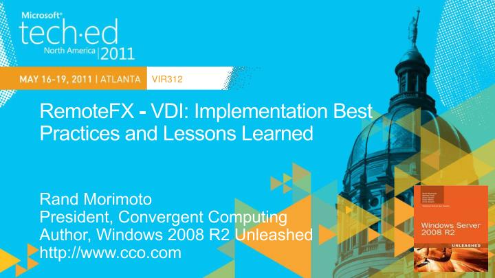 remotefx vdi implementation best practices and lessons learned n.