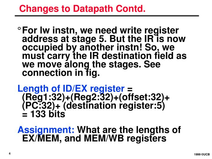 Changes to Datapath Contd.