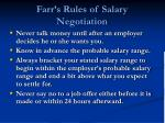 farr s rules of salary negotiation