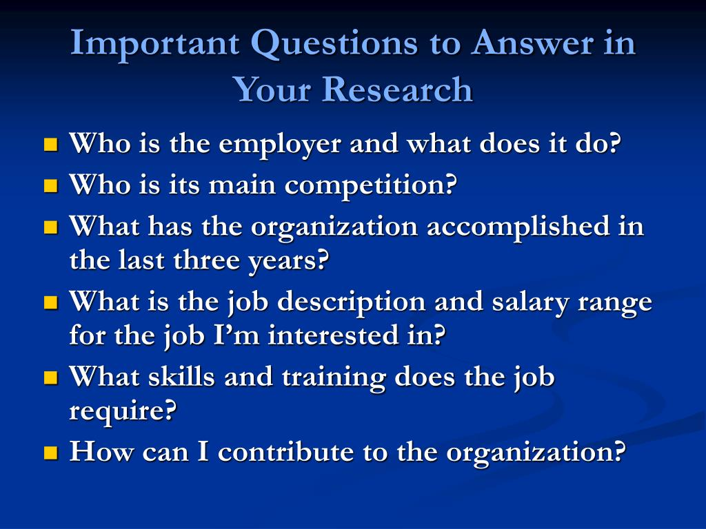 Important Questions to Answer in Your Research
