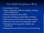 the skills employers want