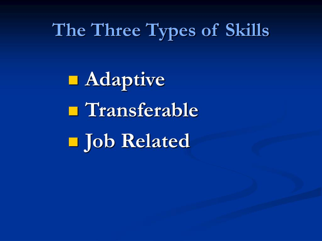 The Three Types of Skills