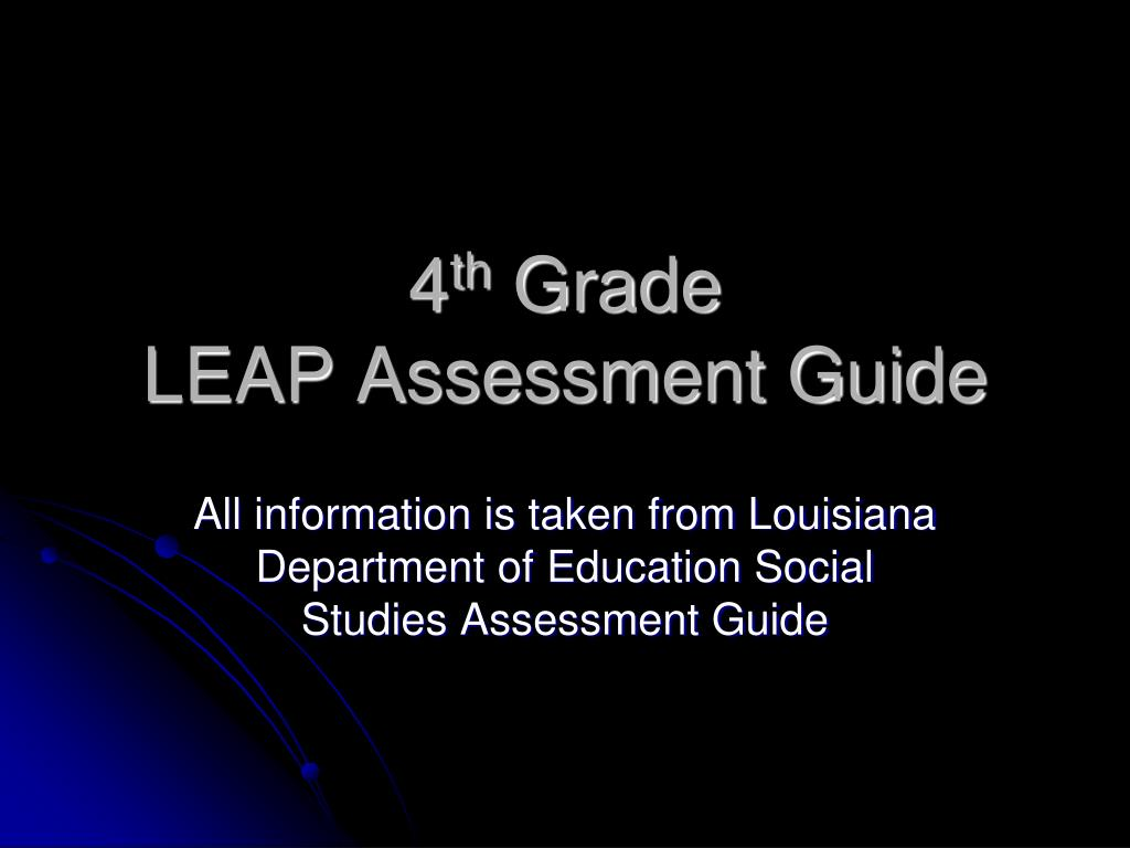 4 th grade leap assessment guide l.
