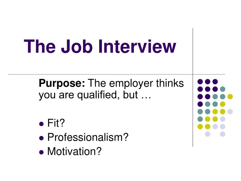 the job interview l.