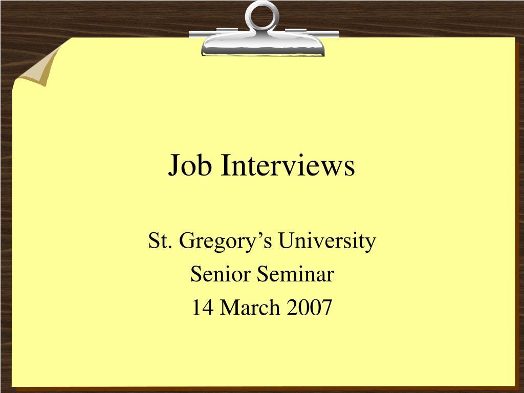 job interviews l.