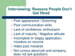 interviewing reasons people don t get hired